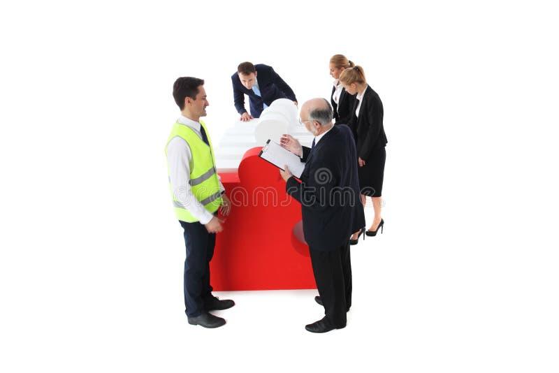 El equipo del negocio recibe rompecabezas imagen de archivo