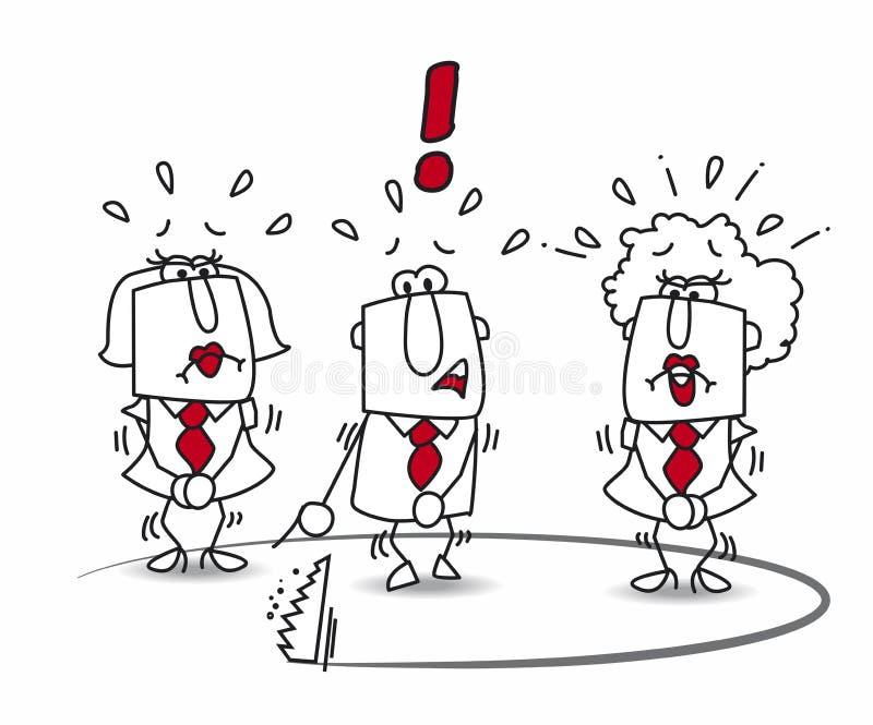 El equipo del negocio y la trampa stock de ilustración