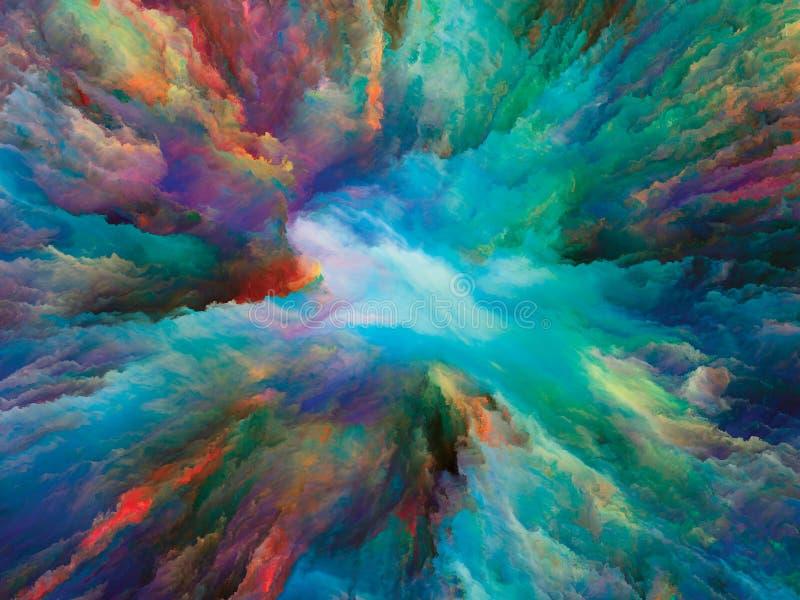 El escape de la pintura surrealista stock de ilustración