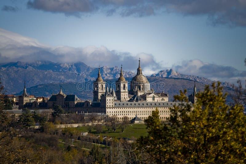 EL Escorial de San Lorenzo del monasterio. Madrid, España imágenes de archivo libres de regalías