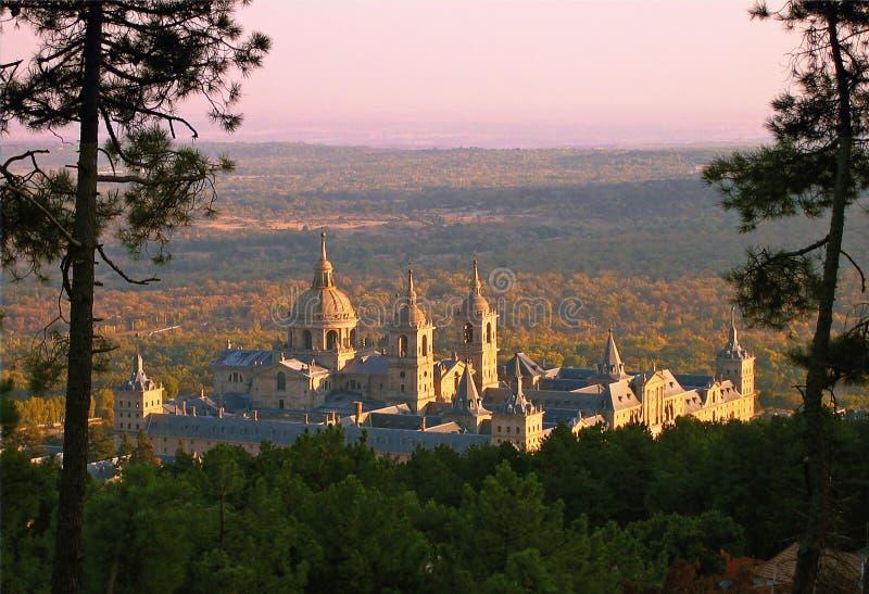 el Escorial klasztor royal Hiszpanii obrazy royalty free