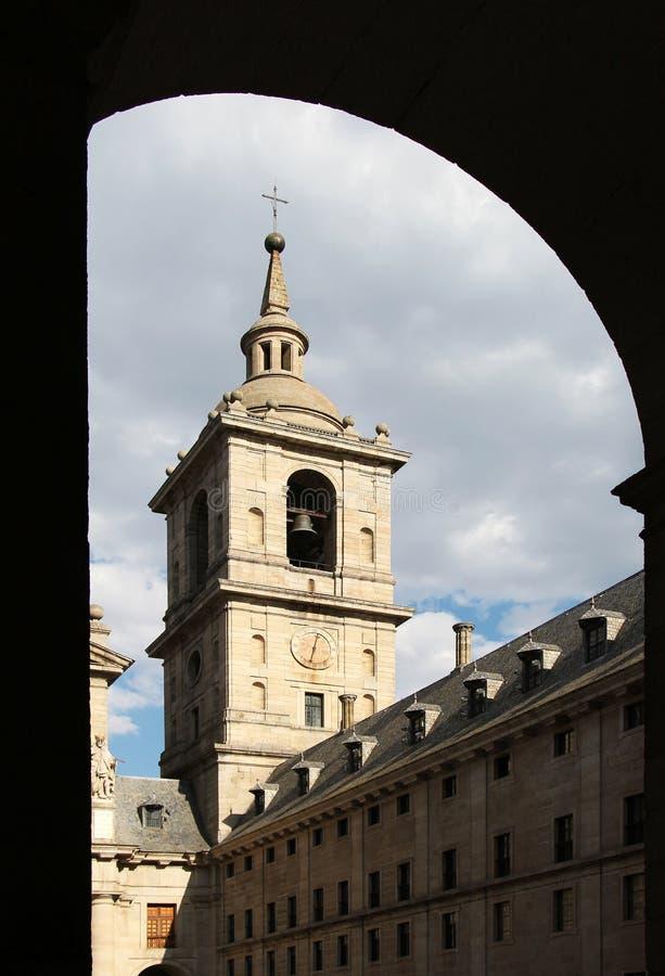 El escorial, madrid, belltower stock image