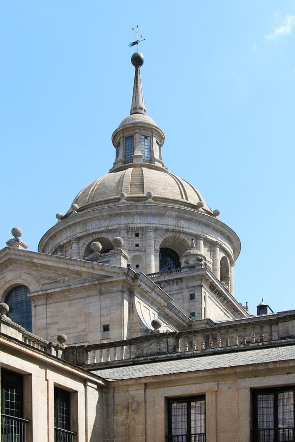 El escorial, madrid, the dome stock image