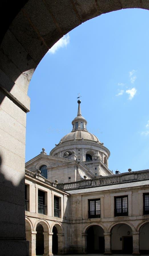 El escorial, madrid, the dome stock photography