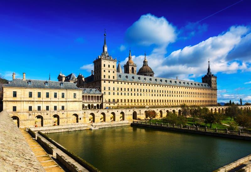 EL Escorial Vue de Royal Palace images libres de droits