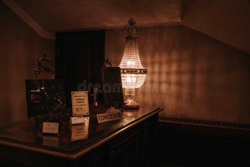 El escritorio de portero foto de archivo libre de regalías