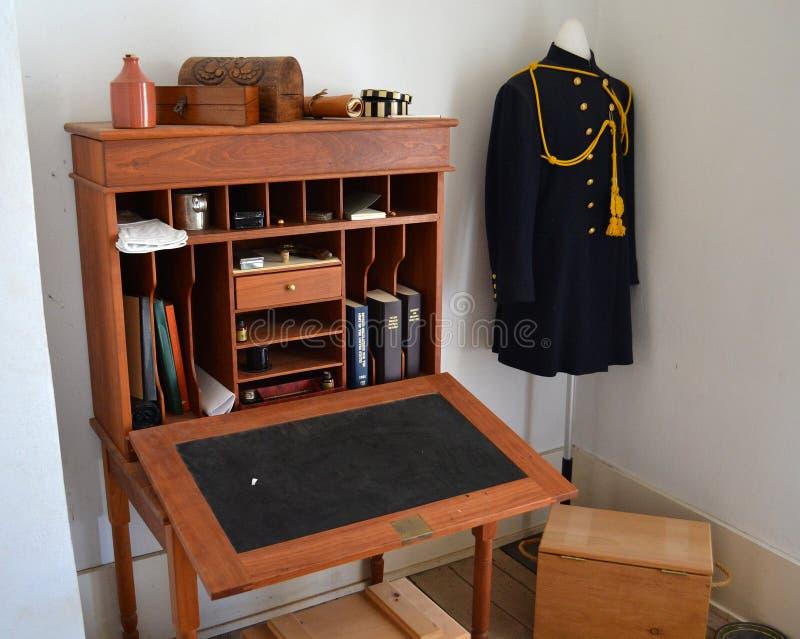 El escritorio del oficial de Richardson Military Hospital del fuerte imagen de archivo