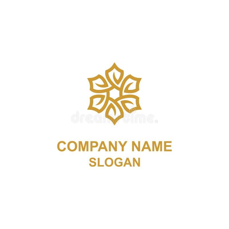 El escudo de la flor sale del logotipo stock de ilustración