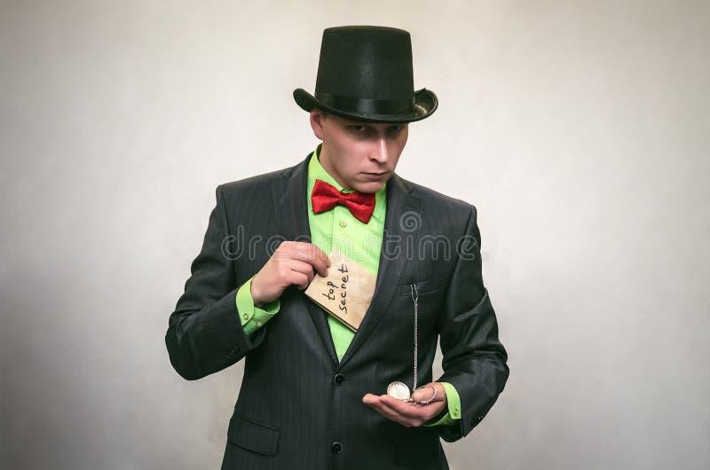 El espía Servicio secreto Agente de Detecive fotografía de archivo