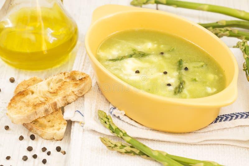 El esp?rrago soup imagen de archivo libre de regalías