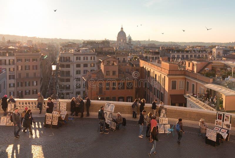 El español camina Roma foto de archivo libre de regalías