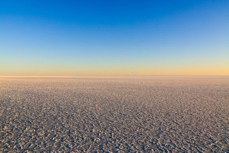 El espacio del cielo y del hielo marino fotografía de archivo