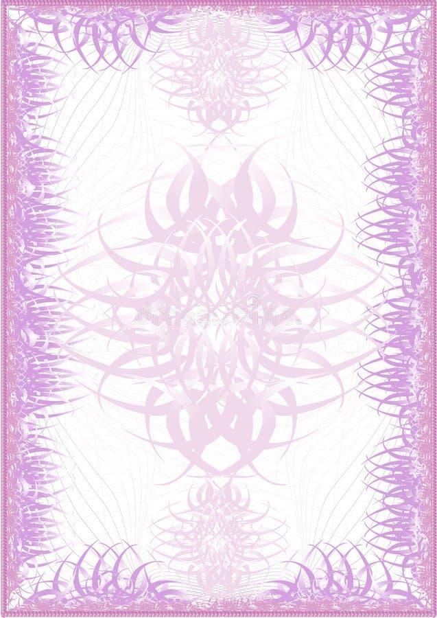 El espacio en blanco rosado de lujo libre illustration