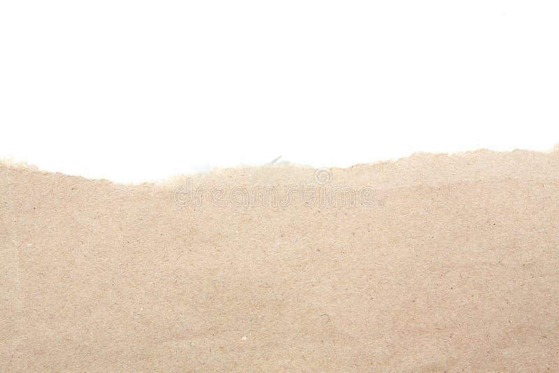 El espacio en blanco vacío recicla el papel de papel del rasgón foto de archivo