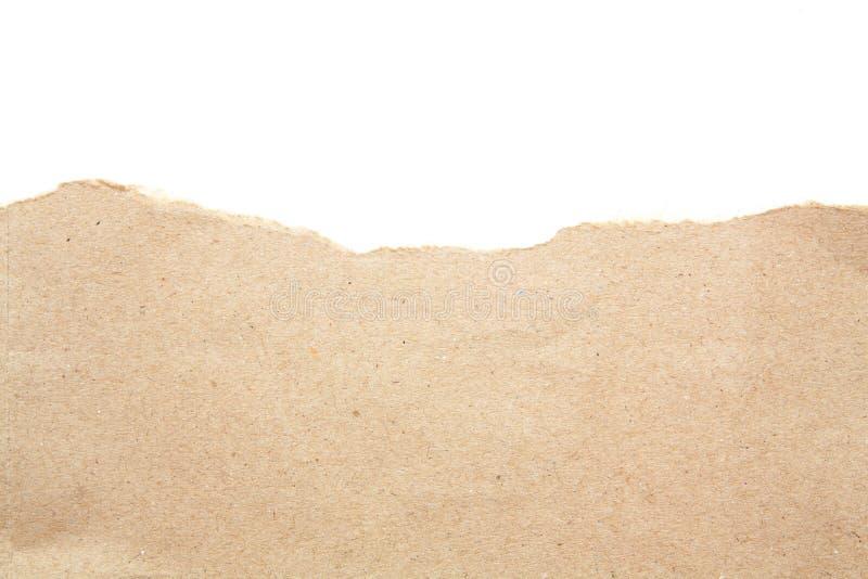 El espacio en blanco vacío recicla el papel de papel del rasgón foto de archivo libre de regalías