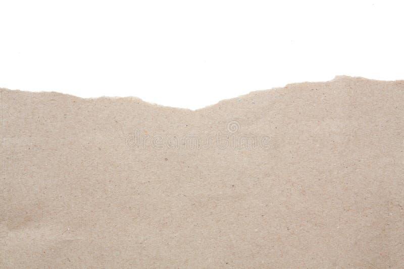 El espacio en blanco vacío recicla el papel de papel del rasgón imagen de archivo