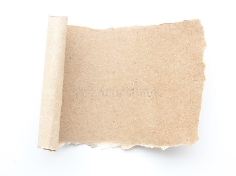El espacio en blanco vacío recicla el papel de papel del rasgón imágenes de archivo libres de regalías