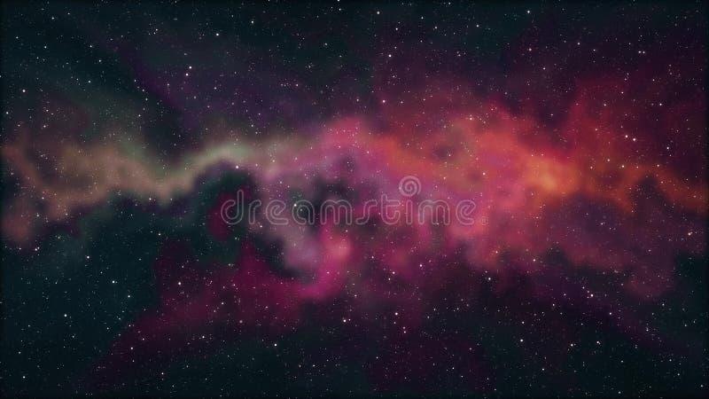 El espacio suave de la nebulosa protagoniza la luz colorida de la nueva de la calidad del fondo del ejemplo del cielo nocturno de ilustración del vector