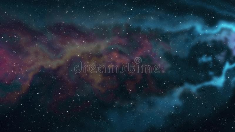 El espacio suave de la nebulosa protagoniza la luz colorida de la nueva de la calidad del fondo del ejemplo del cielo nocturno de libre illustration