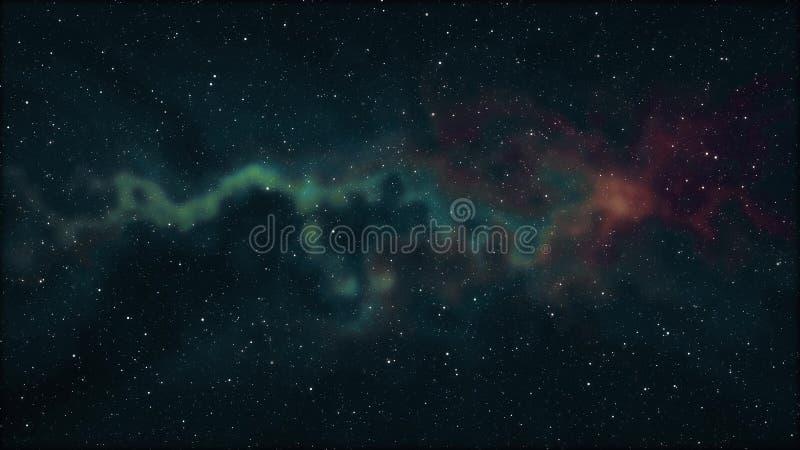El espacio suave de la nebulosa protagoniza la luz colorida de la nueva de la calidad del fondo del ejemplo del cielo nocturno de stock de ilustración