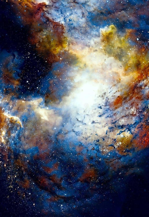 El espacio y las estrellas cósmicos, colorean el fondo abstracto cósmico ilustración del vector