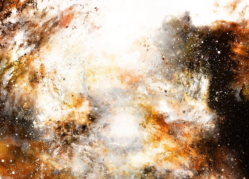 El espacio y las estrellas cósmicos, colorean el fondo abstracto cósmico stock de ilustración
