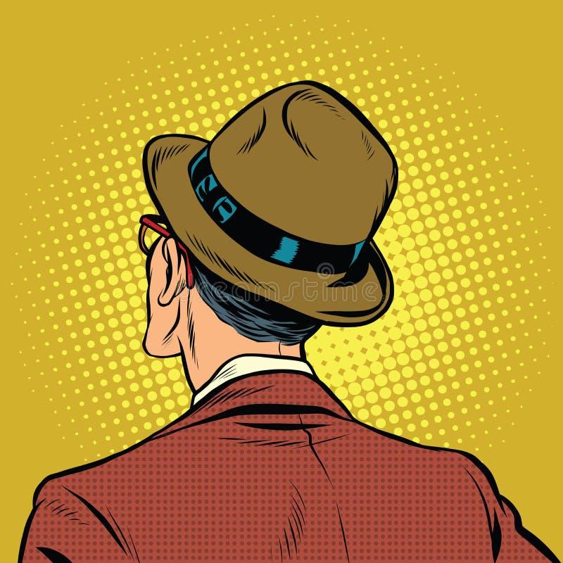 El espectador masculino retrocede stock de ilustración