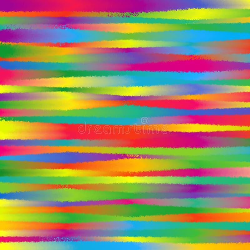 El espectro colorido abstracto del arco iris desigual pone ásperas las líneas modelo Texture_1 de la raya del Grunge del fondo imágenes de archivo libres de regalías