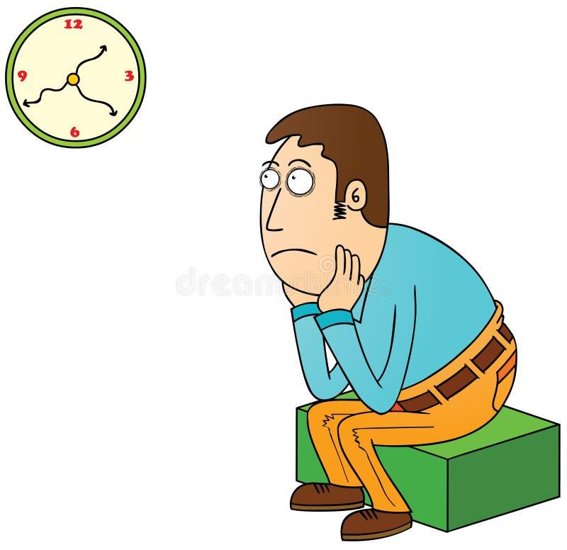 El esperar stock de ilustración