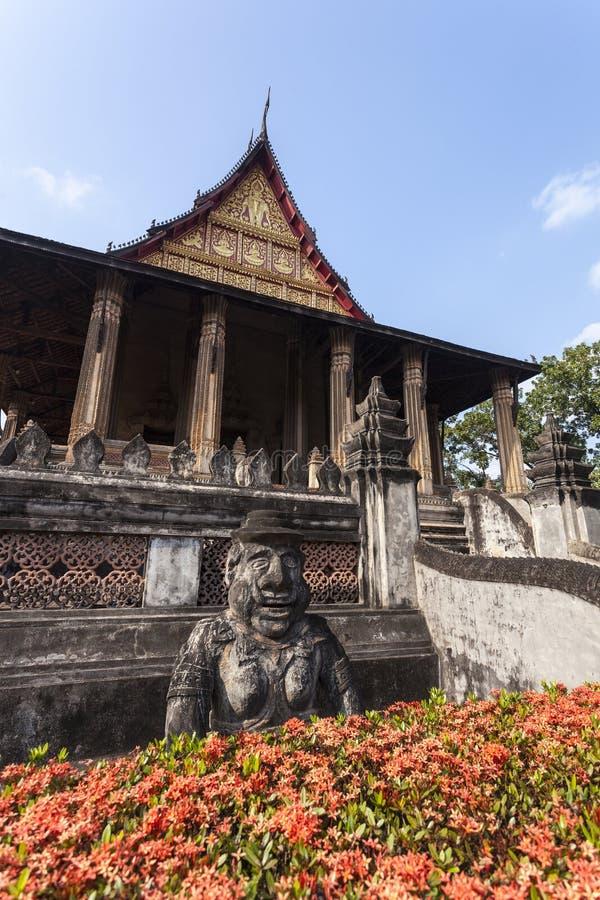 El espino Phra Kaew es un templo anterior en Vientián, Laos foto de archivo libre de regalías