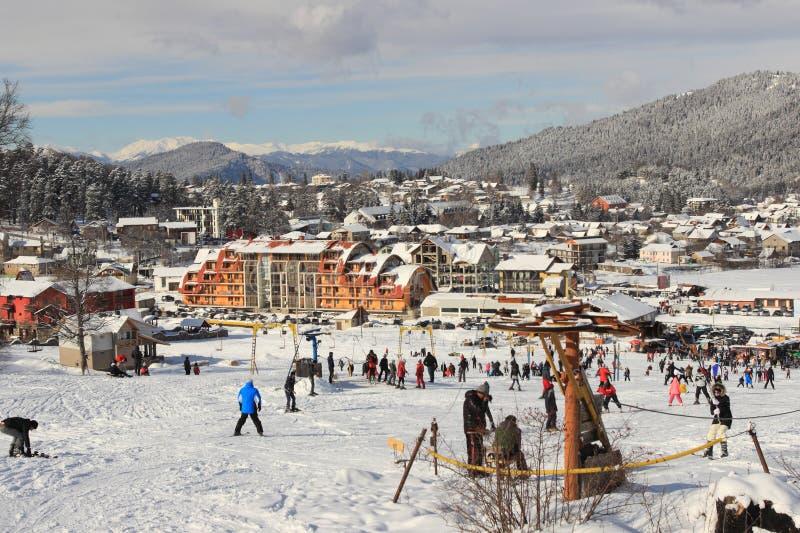 El esquí en Bakuriani imagenes de archivo