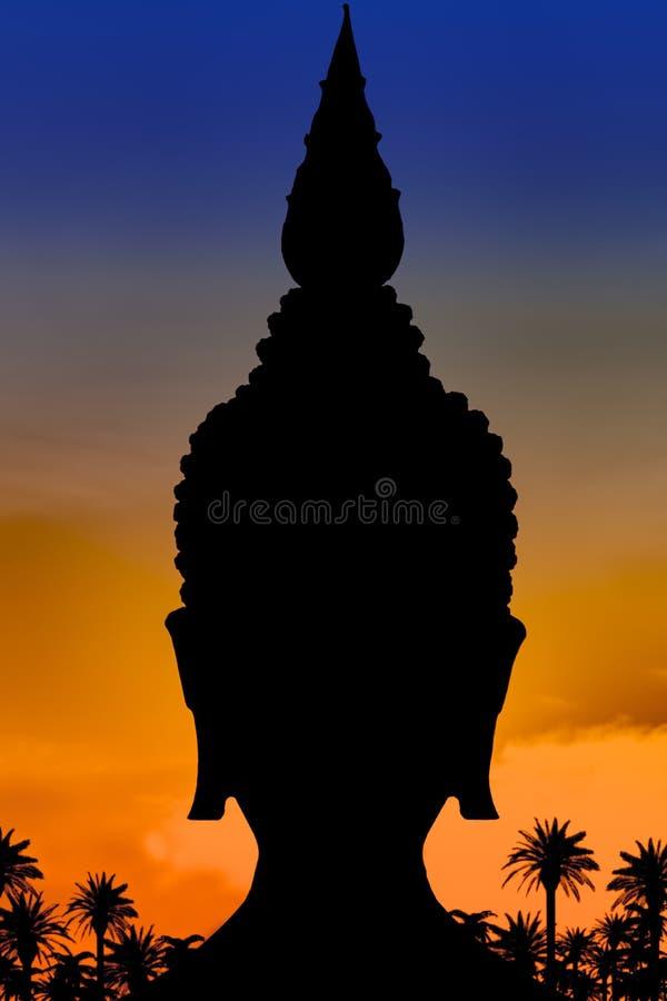El esquema negro de la cabeza de Buda fotos de archivo libres de regalías