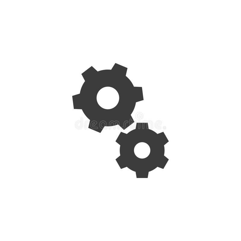 El esquema simple blanco y negro del vector adapta el icono ilustración del vector