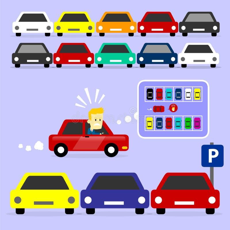 El estacionamiento es lleno stock de ilustración