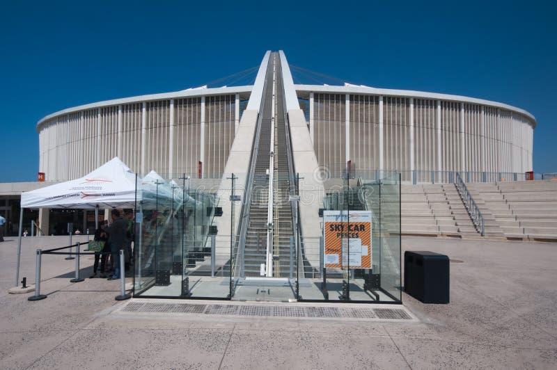 El estadio de fútbol de Durban Moses Mabhida foto de archivo