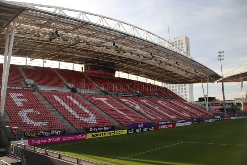 El estadio de fútbol de Footbal del FC Utrecht nombró el nieuwe Galgenwaard desde adentro imagenes de archivo