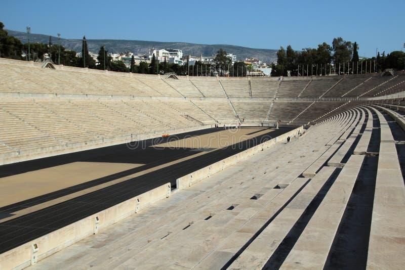 El estadio de Panathenaic, Atenas, Grecia fotos de archivo