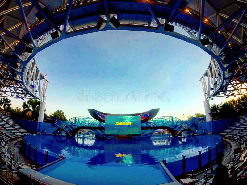 El estadio de Shamu imagen de archivo libre de regalías