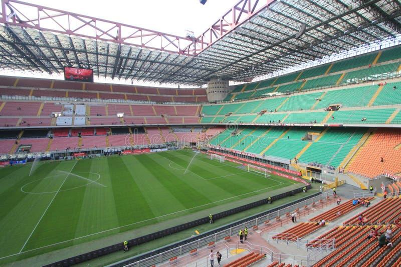 El estadio de Stadio Giuseppe Meazza en Milán, Italia fotos de archivo