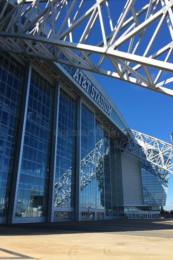 El estadio de AT&T en Arlington, Tejas, hogar a Dallas Cowboys fotos de archivo libres de regalías