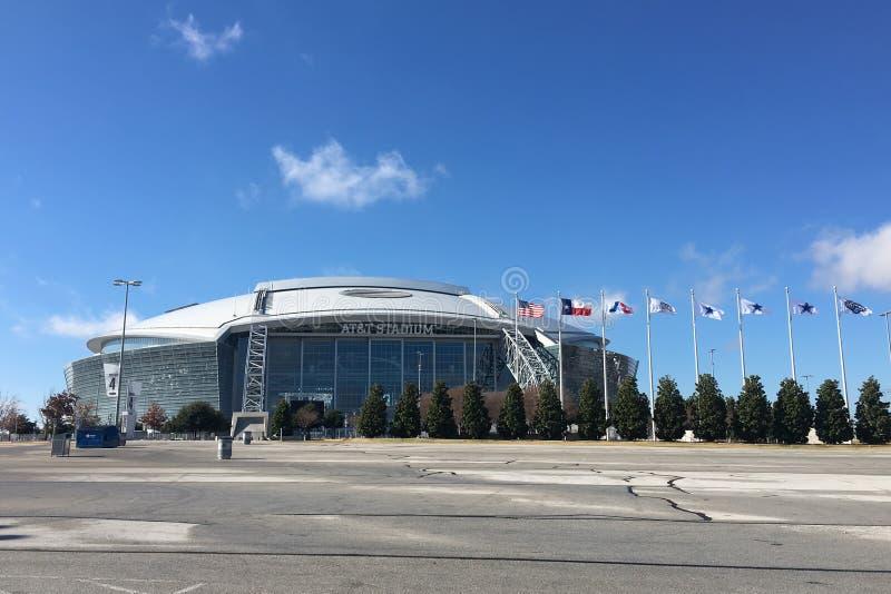 El estadio de AT&T, hogar a Dallas Cowboys del NFL imagen de archivo