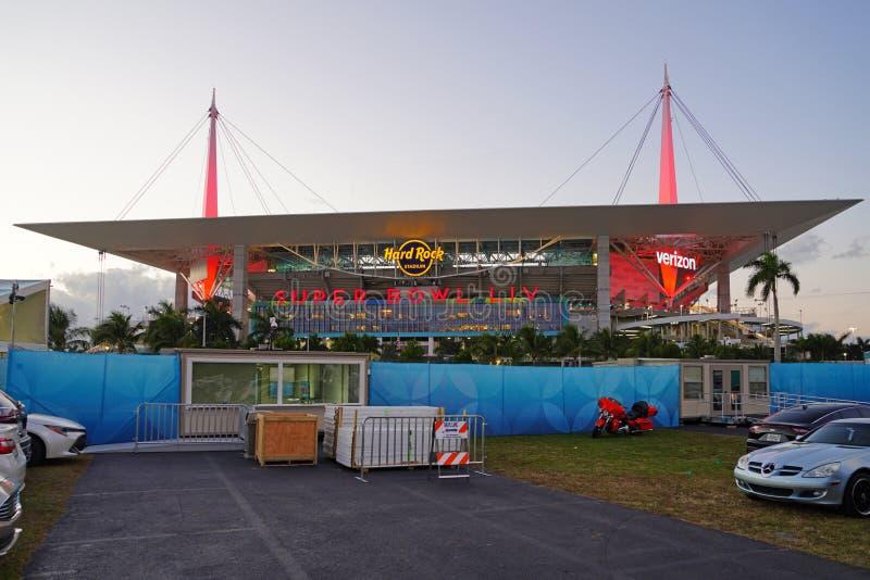 El estadio Hard Rock de Miami, anfitrión del Superbowl 2020 LIV 54 fotografía de archivo