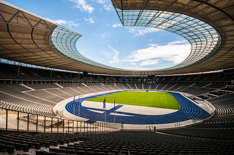 El estadio Olímpico Berlín imagen de archivo