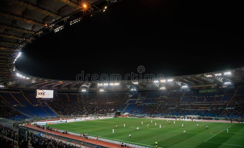 El estadio Olímpico en Roma, Italia fotografía de archivo