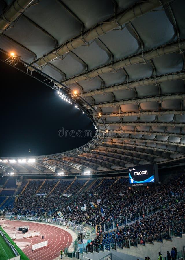 El estadio Olímpico en Roma, Italia imagenes de archivo
