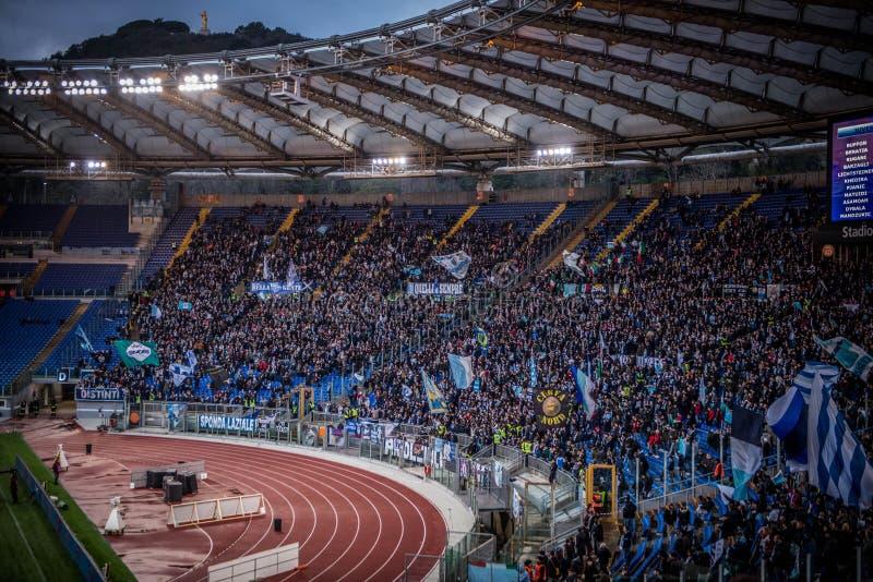 El estadio Olímpico en Roma, Italia imagen de archivo