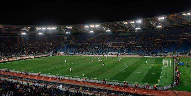 El estadio Olímpico en Roma, Italia imagen de archivo libre de regalías