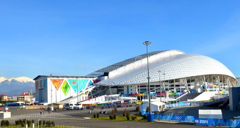 El estadio Olímpico Fisht en Sochi, Rusia imagen de archivo