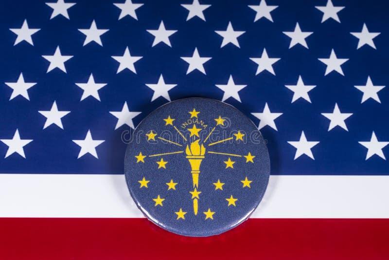 El estado de Indiana en los E.E.U.U. foto de archivo
