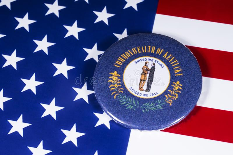 El estado de Kentucky en los E.E.U.U. imagen de archivo libre de regalías